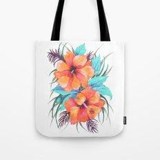 TROPICAL FLOWER {orange hibiscus}  Tote Bag