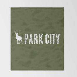 Utah: Park City Deer Throw Blanket