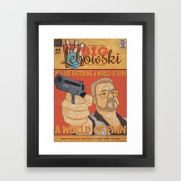 The Big Lebowski Comic Style Print Framed Art Print