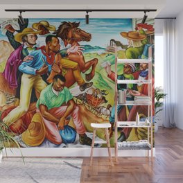 """African American Classical Masterpiece """"The Underground Railroad"""" by Hale Woodruff Wall Mural"""