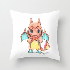 A Burning Passion Throw Pillow