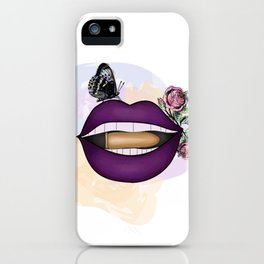 Beautiful Lips with Bullet. Cool New Design. iPhone Case