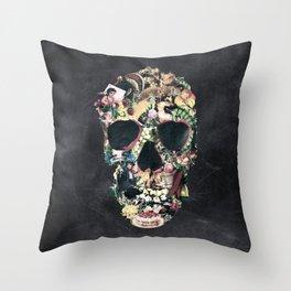 Vintage Skull Throw Pillow