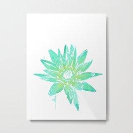 Mint Lily Metal Print
