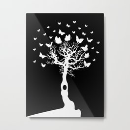 We will all laugh at gilded butterflies Metal Print