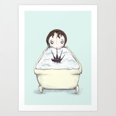 Nightmare Bath  Art Print