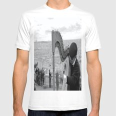 His Music Floats Down to Paris Mens Fitted Tee White MEDIUM