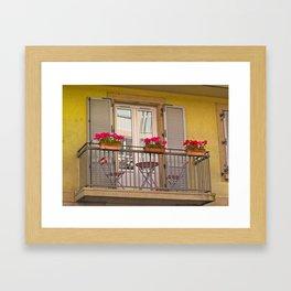 Balcon Francais Framed Art Print