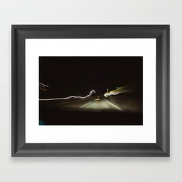 Light Scribble Framed Art Print