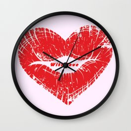 With my love Wall Clock