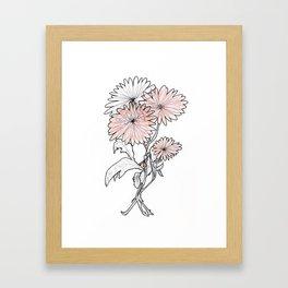 flower illustration Framed Art Print
