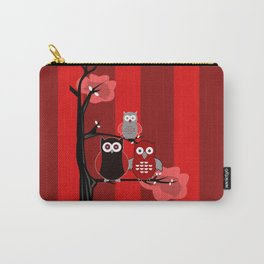 Red Owls Carry-All Pouch
