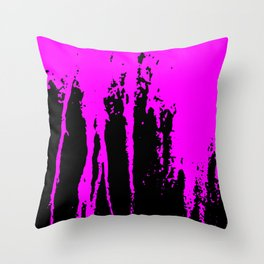 Scratched Paint Throw Pillow