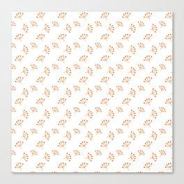 Orange Queen Anne's Lace pattern Canvas Print