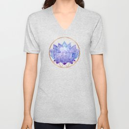 Violet Zen Lotus Unisex V-Neck