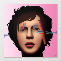 cassia beck Canvas Prints featuring Beck (Sea Change) by AdamSteve