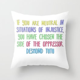Neutrality Throw Pillow