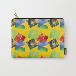 Painted Squares Jiggle - Yellow Carry-All Pouch