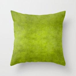 """""""Summer Fresh Green Garden Burlap Texture"""" Throw Pillow"""