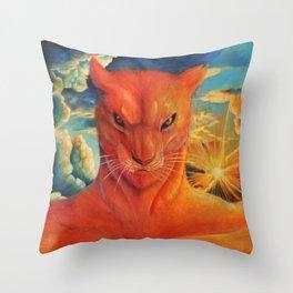 The Fierce Red Throw Pillow