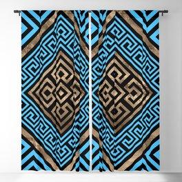 Greek Key Ornament - Greek Meander -Rhombus #2 Blackout Curtain