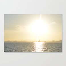 Let's Sail From this City Canvas Print
