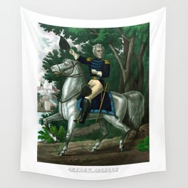 General Andrew Jackson On Horseback Wall Tapestry