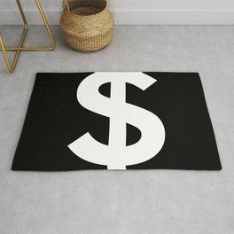Dollar Sign (White & Black) Rug