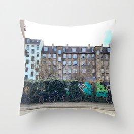 Homes, Vesterbro, Copenhagen Throw Pillow