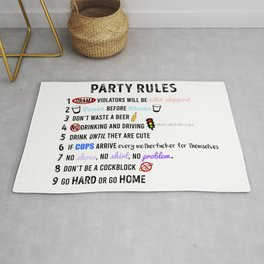 Party Rules Rug