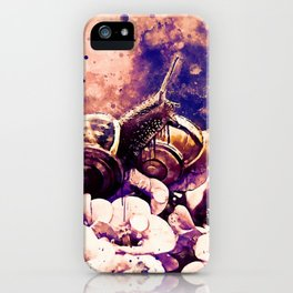 two snails make love wsls iPhone Case
