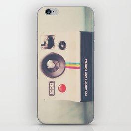portrait of a polaroid ...  iPhone Skin