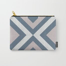 Urban Geometric modern square shapes mid century pattern soft pastel pink 01 Carry-All Pouch