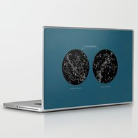 constellations Laptop & iPad Skins featuring Constellations  by Terry Fan