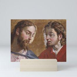 Sebastiano Ricci - Head of Christ and an Apostle (St John) Mini Art Print