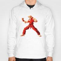 street fighter Hoodies featuring Street Fighter II - Ken by Carlo Spaziani
