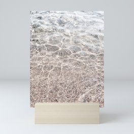 Clear sea with sun reflections Mini Art Print