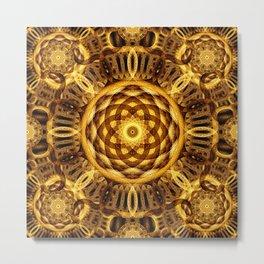 Gold Seam Mandala Metal Print