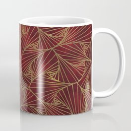 Tangles Red and Gold Coffee Mug