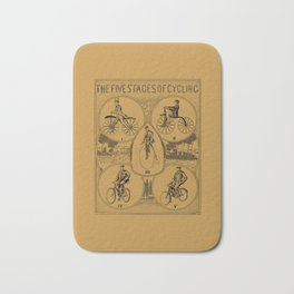 The five stages of cycling (bicycle history) Bath Mat