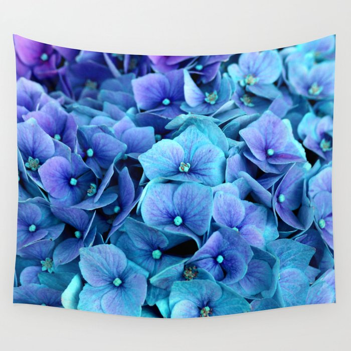 Purple Blue Hydrangea Wall Tapestry