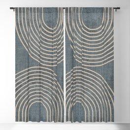 Grunge Texture Minimalist Blackout Curtain