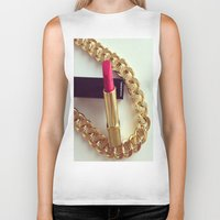 lipstick Biker Tanks featuring LIPSTICK by I Love Decor