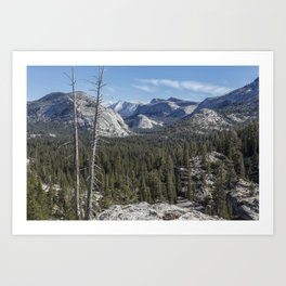 The North View Towards Tenaya Lake from Olmsted Point Art Print