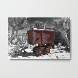 Rusty minecart Metal Print