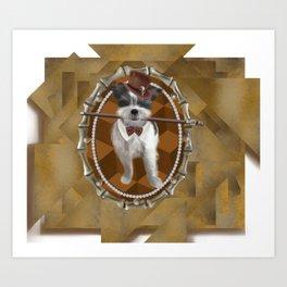 Steam Terrier Art Print