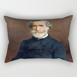 Giuseppe Verdi (1813 – 1901) by Giovanni Boldini (1842 - 1931) Rectangular Pillow