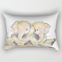 Happy Little Elephants Rectangular Pillow