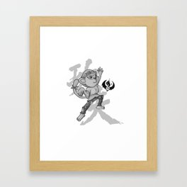 KungFu Zodiac - Monkey Framed Art Print
