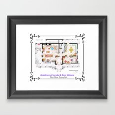 House of Lorelai & Rory Gilmore - Ground Floor Framed Art Print
